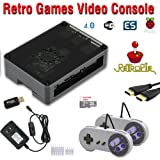 Raspberry Pi 3 based retro games emulation console, 16GB edition, 2x snes type controller, Retropie