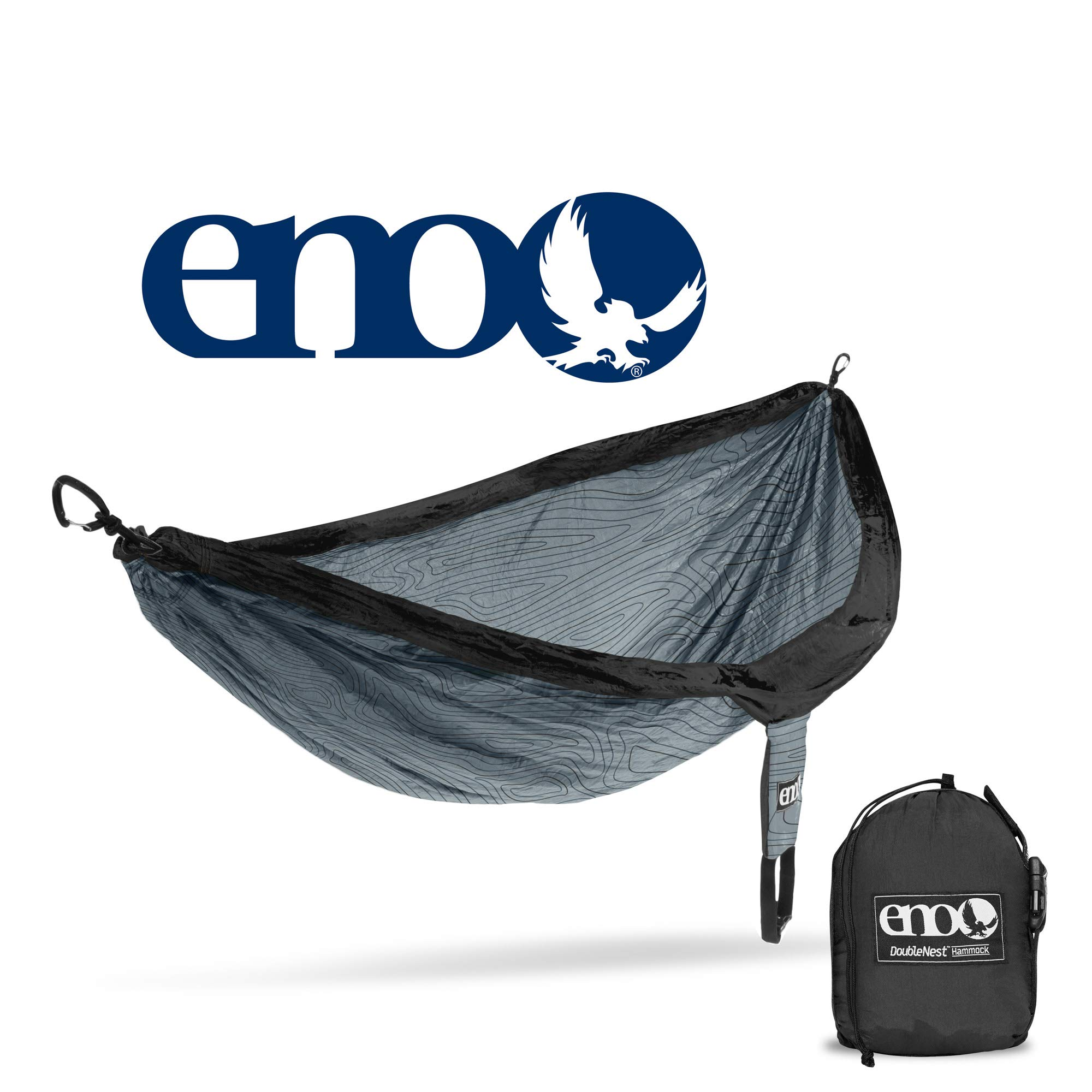 ENO - Eagles Nest Outfitters DoubleNest Print Portable Hammock for Two, Woodgrain/Grey