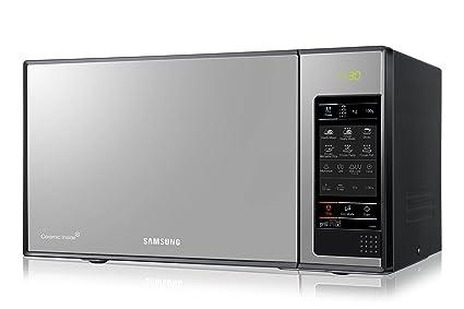 Samsung GE83X/XEC - Microondas con grill, 800 W/1100W, 23 litros, 6 niveles de potencia, interior cerámico para mayor facilidad en la limpieza, color ...