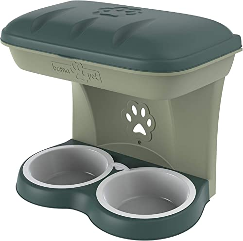 Bama Pet AP-19041 Elevated Food Stand – Medium, Green