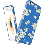 "iPhone 6 / 6s case Slim, Akna Vintage Obsession Series High Impact Slim Hard Case with Soft Fabric Interior for both iPhone 6 & iPhone 6s(4.7"" iPhone)[Lovely Blue Flower](C.A)"