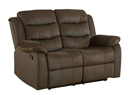 Peachy Coaster Home Furnishings Motion Loveseat In Two Tone Chocolate Short Links Chair Design For Home Short Linksinfo
