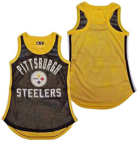 G-III 4her by Carl Banks Pittsburgh Steelers Women s Black Comeback Mesh Tank  Top X 993adfebc
