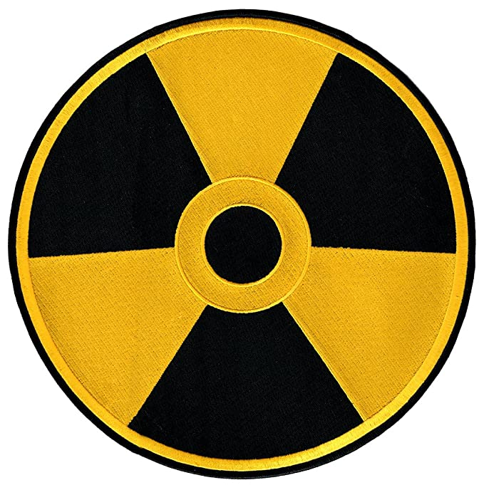 Amazon Nuclear Radiation Symbol Large Embroidered Patch Iron On