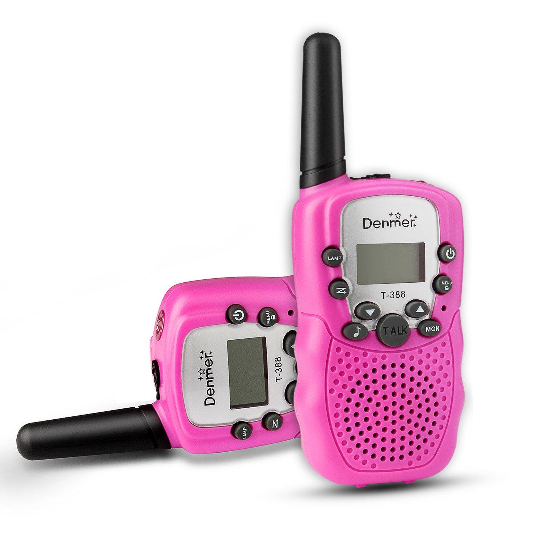 Amazon com: Denmer Two-Way Radios Mini Walkie Talkie 3-5KM