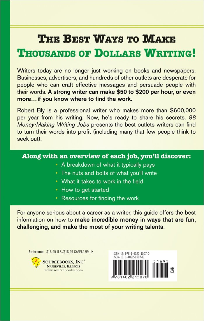 money making writing jobs robert bly  88 money making writing jobs robert bly 0760789222443 com books