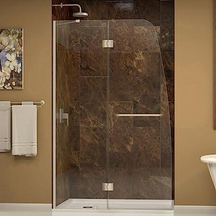 DreamLine Aqua 30 in. D x 60 in. W Kit, with Hinged Shower Door in ...