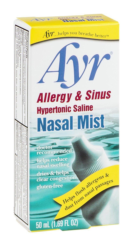 Amazon.com: Ayr niebla nasal alergia y Sinus 1.7 fl oz ...