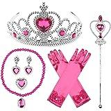 JerrisApparel Princess Dress Up Accessories Gift Set for Elsa Belle Aurora Cinderella