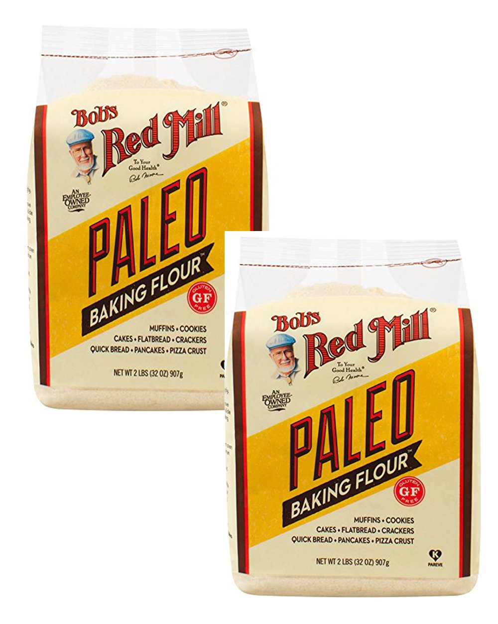 Bob's Red Mill Paleo Baking Flour, 32-ounce ~ Gluten Free ~ Grain Free ~ Nut Flours and Root Starches (2 Pack)