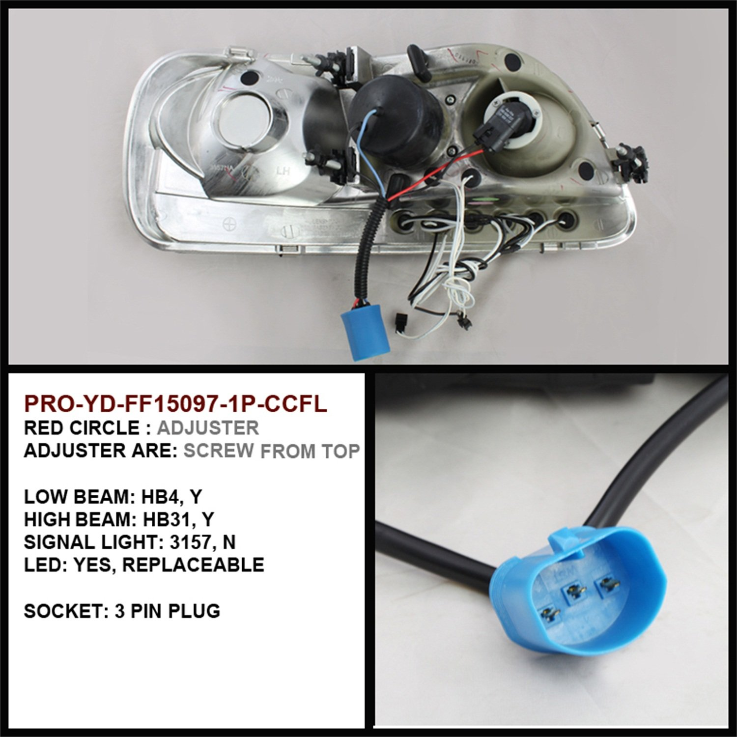 Spyder Auto Ford F150 Expedition Black Ccfl Led 1976 Dual Tank Wiring Projector Headlight Automotive