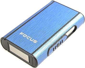 Focus Estuche de Cigarrillos automático de Aluminio (9.5cm x 5.7cm x 1.8cm), de Color Azul, 464-03 DE: Amazon.es: Equipaje