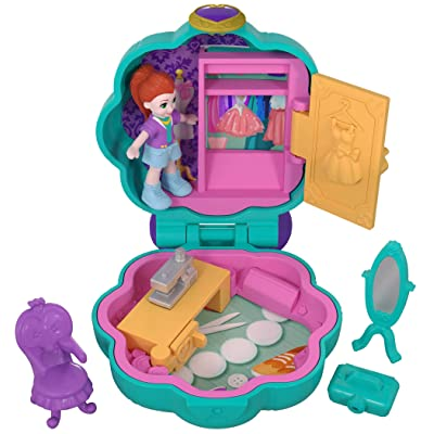 Polly Pocket Fiercely Fab Studio Compact Multicolor (FRY31): Toys & Games