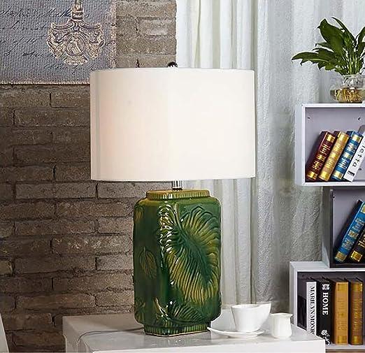 YYHSND Garden Square Green Leaf Revertir lámpara de Escritorio de ...