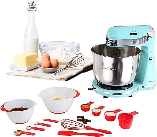 Robot de cocina multifunción verde + set de 12 accesorios de ...