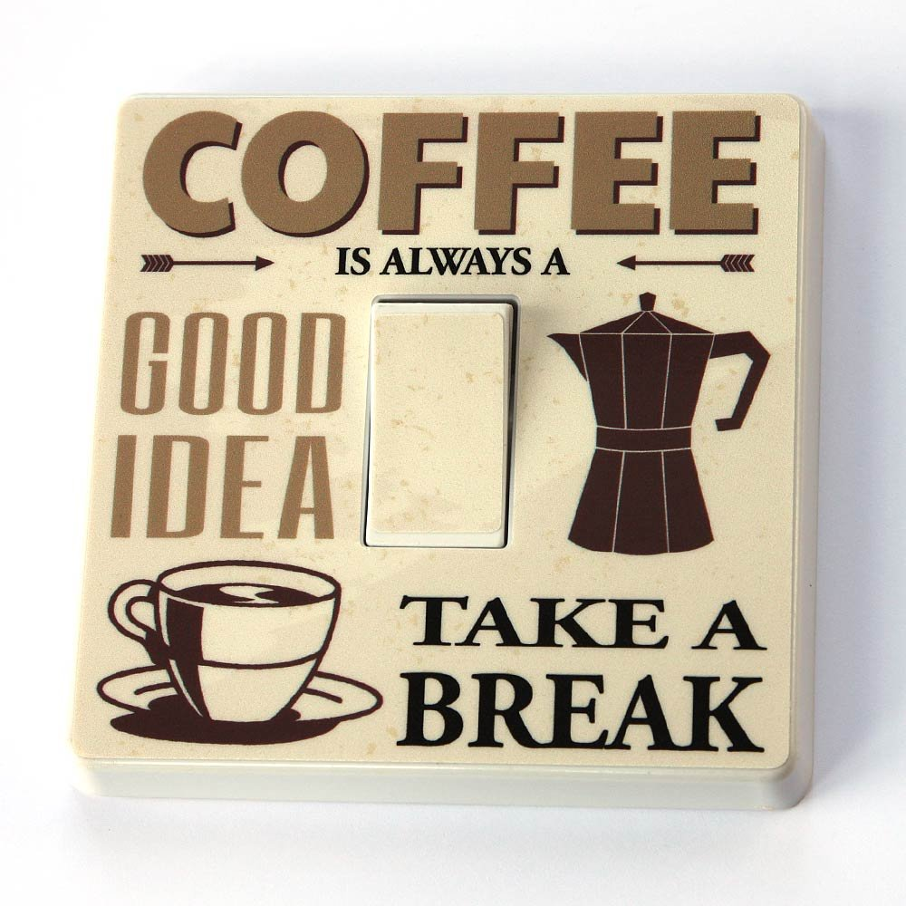 Coffee - Take A Break - Light Switch Vinyl Sticker The Sticker Shop
