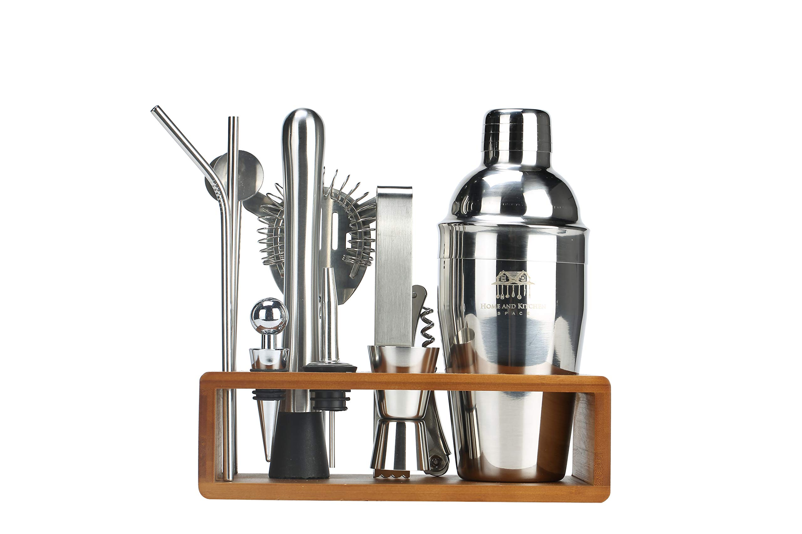13 pieces Cocktail Shaker Bartender Accessories Kit by KIHR GOODS