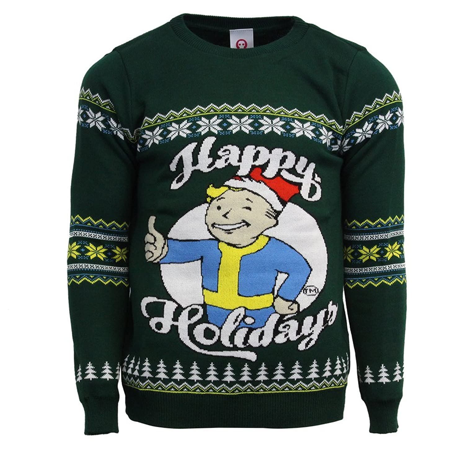 Fallout Official Happy Holidays Christmas Jumper/Ugly Sweater - UK ...