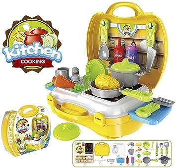 Kinder Küchen Set Im Koffer Reiseküche Spielküche 26 Teilig Kinderspielküche