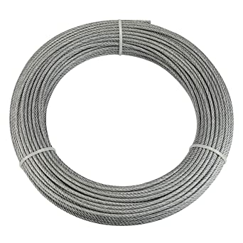 Amazon.com: Muzata - Cuerda de alambre de acero inoxidable ...