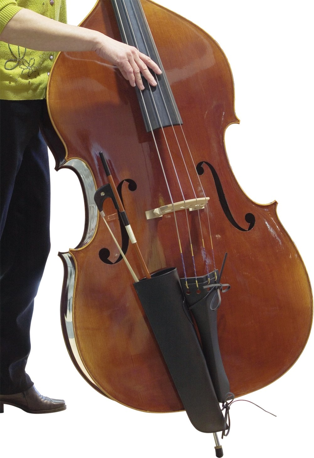 The String Centre Bass Bow Quiver BASSBOWQUIVER BLK