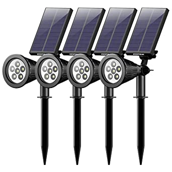 4 Pack] Mpow 6 LED Lampe Solaire Extérieur, Eclairage ...