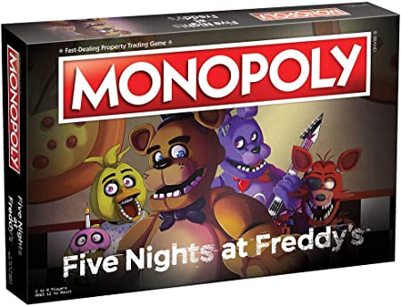Monopoly Five Nights at FreddyS Board Game | Based on Five Nights at FreddyS Video Game | Officially Licensed Five Nights at FreddyS Merchandise | Themed Classic Monopoly Game: Amazon.es: Juguetes y juegos