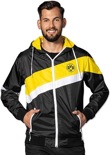 Borussia Dortmund Bvb Windbreaker Black Amazon Co Uk Clothing