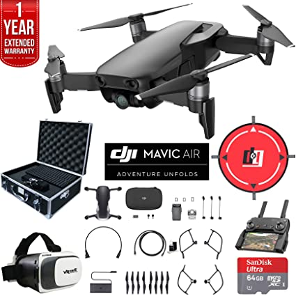 53f17e0f3d4 DJI Mavic Air (Onyx Black) Drone Combo 4K Wi-Fi Quadcopter with Remote