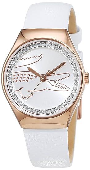 Lacoste mujer-reloj analógico de cuarzo en el medio de Valencia de cuero 2000896: Amazon.es: Relojes