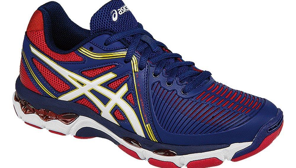 ASICS Women's Gel-Netburner Ballistic Volleyball Shoe, Estate Blue/White/True Red, 10.5 M US by ASICS (Image #1)
