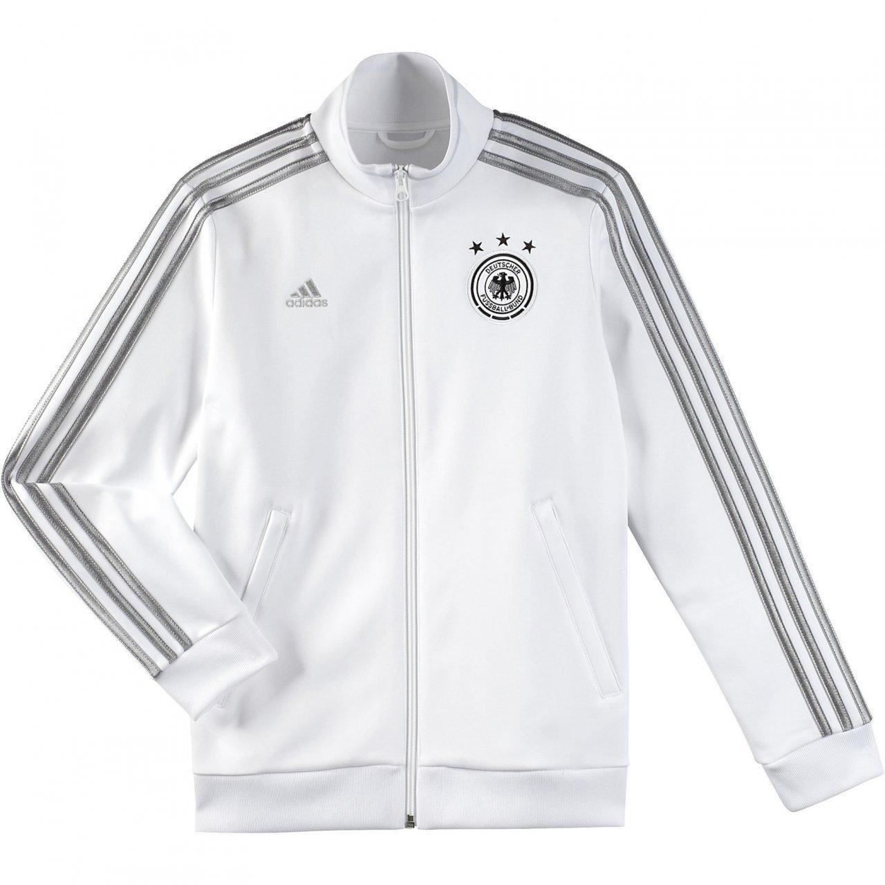 adidas Boy's Deutscher Fussball-Bund Germany Soccer Track Jacket, White, XL