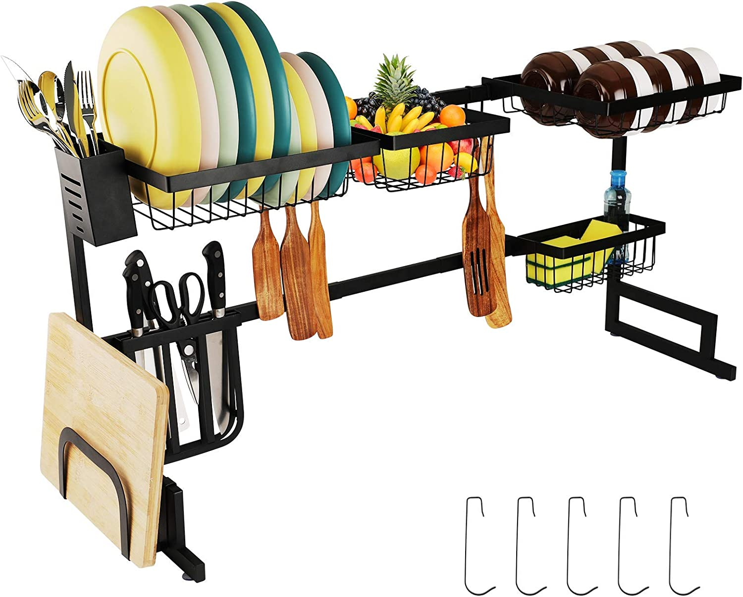 Naisicore Over The Spasm Shipping included price Sink Dish Draine Adjustable Drying Rack