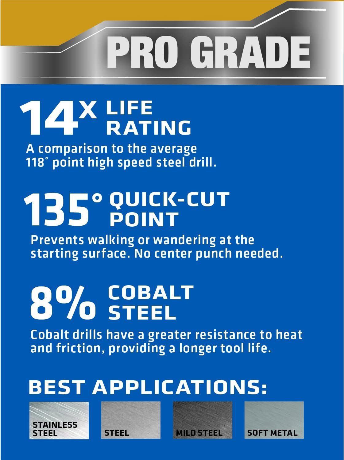 11//64-Inch Century Drill and Tool 26211 Cobalt High Speed Steel Drill Bit