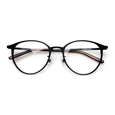 930e338310f Komehachi - Super Light Unisex Vintage Simple Elegant Round Metal RX-Ready Eyeglasses  Frame with