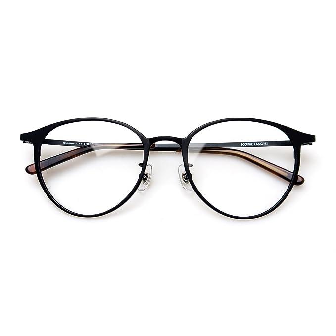Amazon.com: Komehachi - Montura de gafas de metal redondo ...