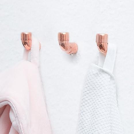 rod & knot Gancio Appendiabiti di Design in Rame - 3 Ganci ...