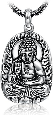 bouddha collier argent