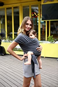 Baby Sling Carrier Wrap Suitable for Newborns to 35 lbs Baby Sling Nursing Cover-Breathable Stretchy Cotton Best Baby Gift