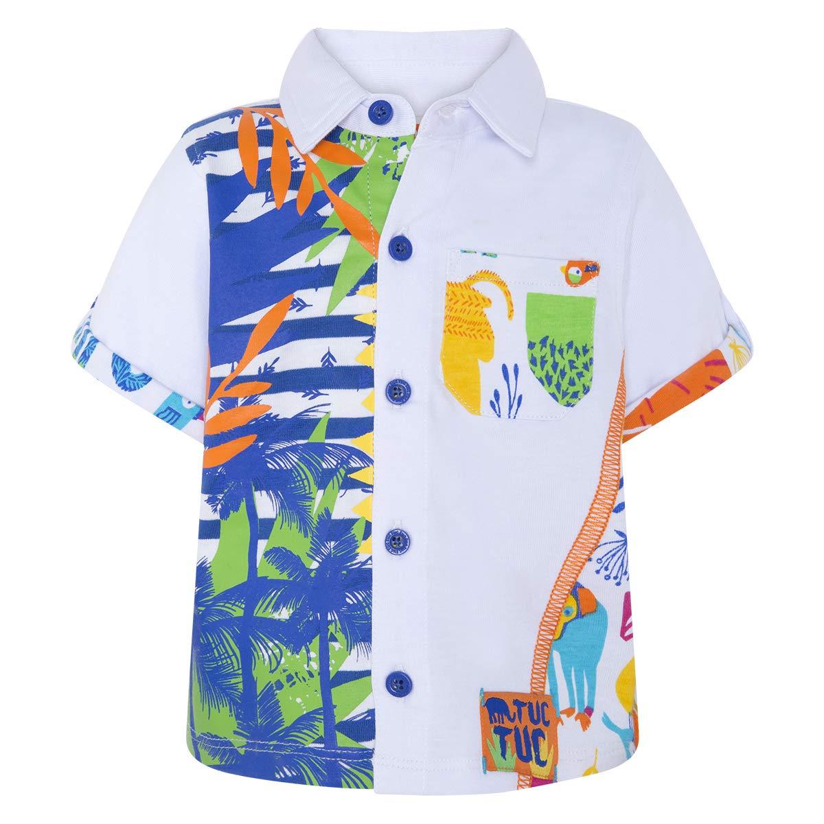 Tuc Tuc Baby-Jungen Camisa Punto Ni/ño Animal Crew Hemd