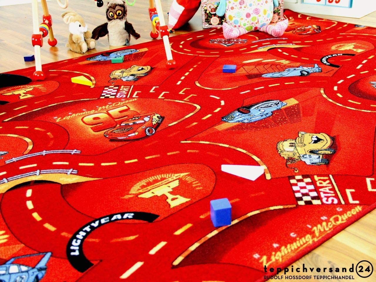 17 tama/ños Snapstyle Alfombra Carretera Infantil de Juegos Disney Cars Rojo