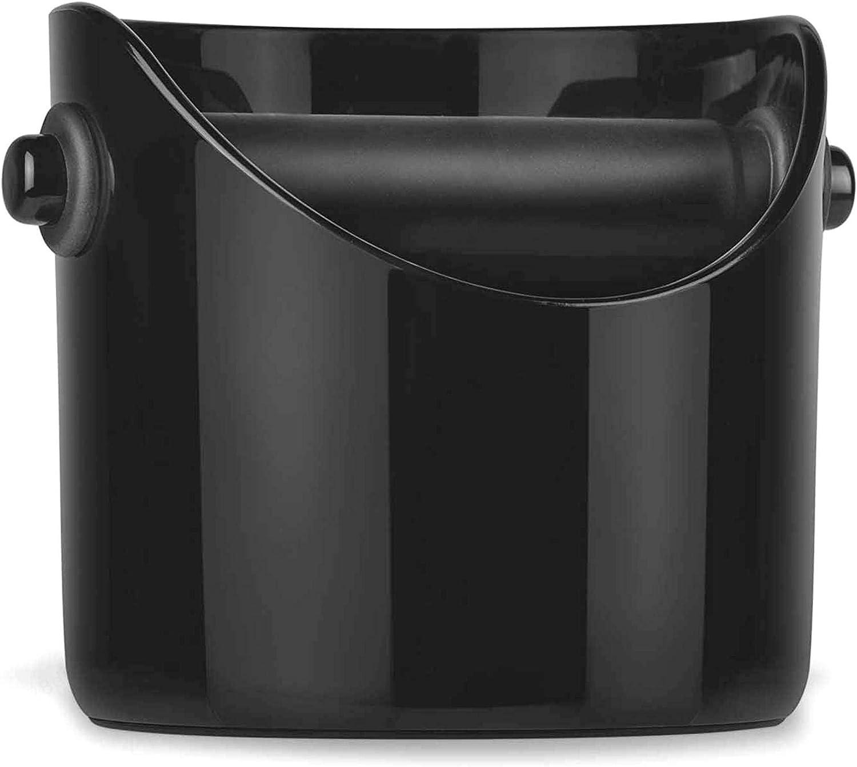ZXYAN Espresso Dump Bin Coffee Grind Knock Black Box