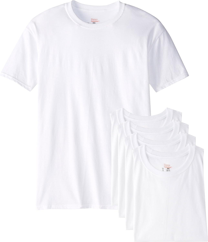Camisetas para hombre Hanes Ultimate FreshIQ Big Crew 5 unidades