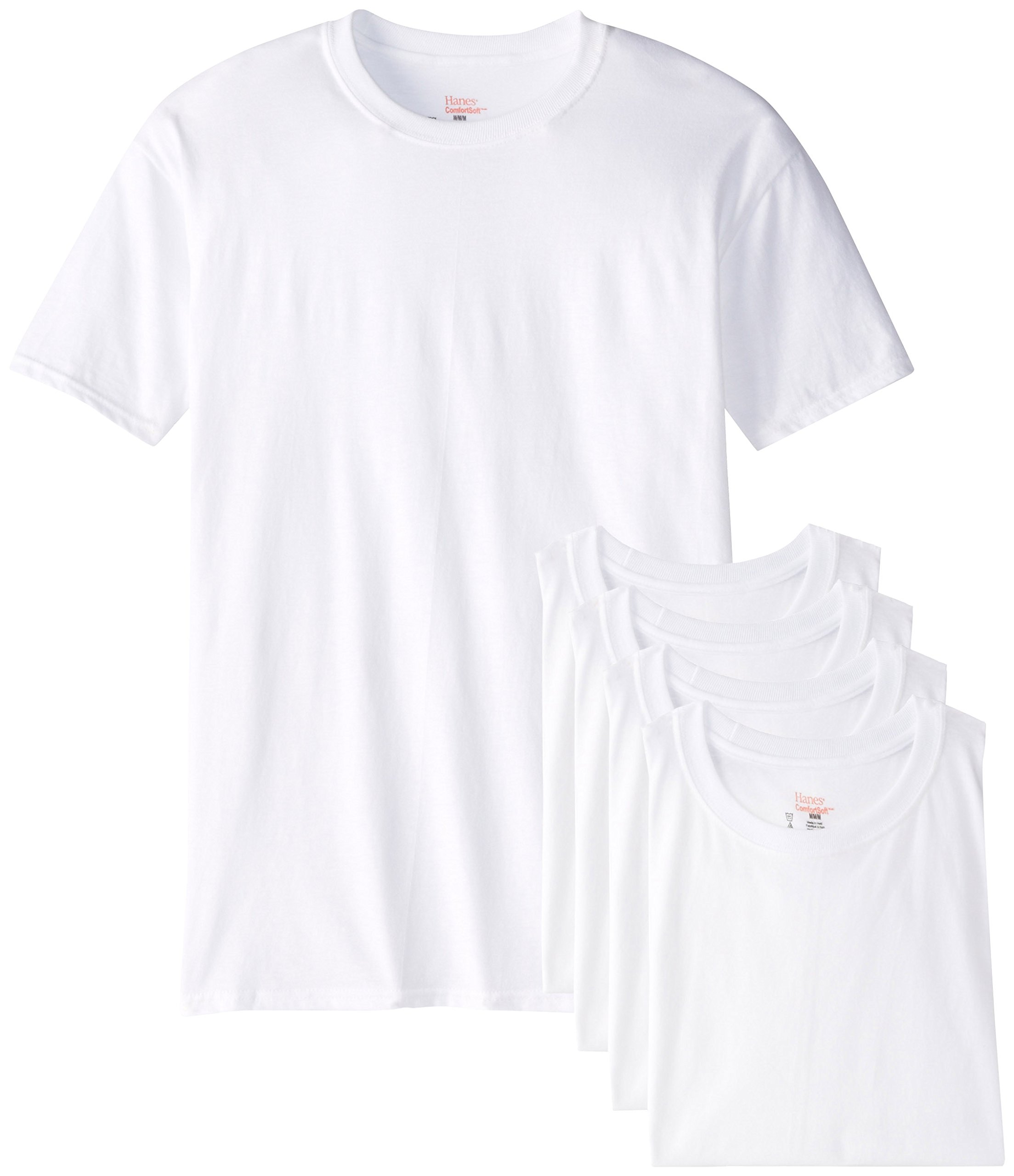 by Hanes Hanes Men's Fresh IQ Big Crew T-Shirts (Pack Of Five) (XXX-Large Tall, White)