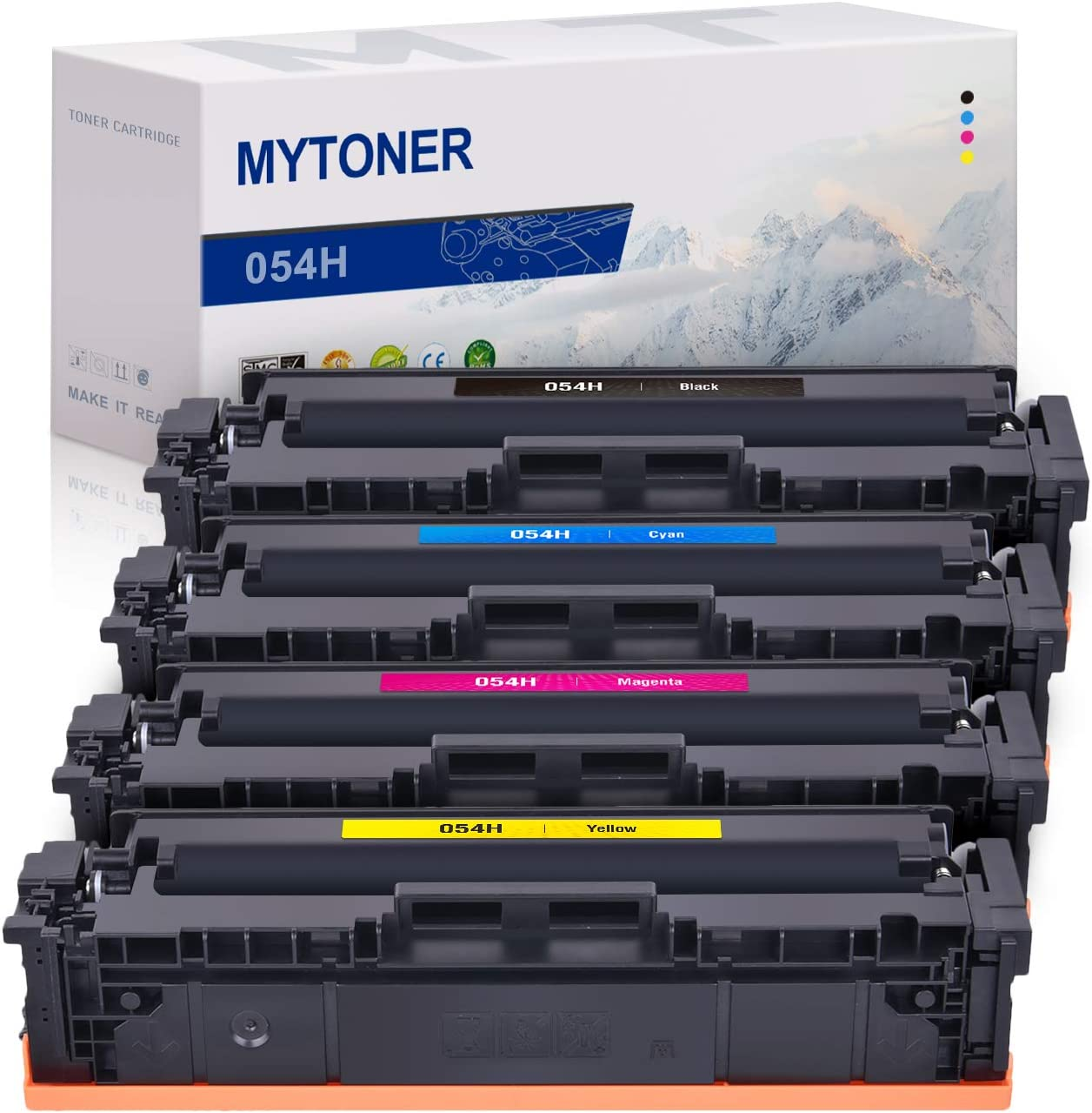 Compatible Toner Cartridges Replacement for CRG-054 for Canon Color imageCLASS MF642cdw Laser Printer with Chips-Combination