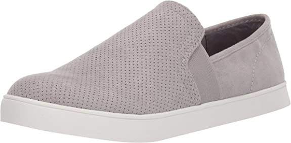 Dr. Scholl's Shoes Women's Luna Sneaker, Grey Cloud Microfiber Perforated, 6