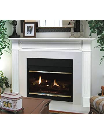 48 white mantel shelf