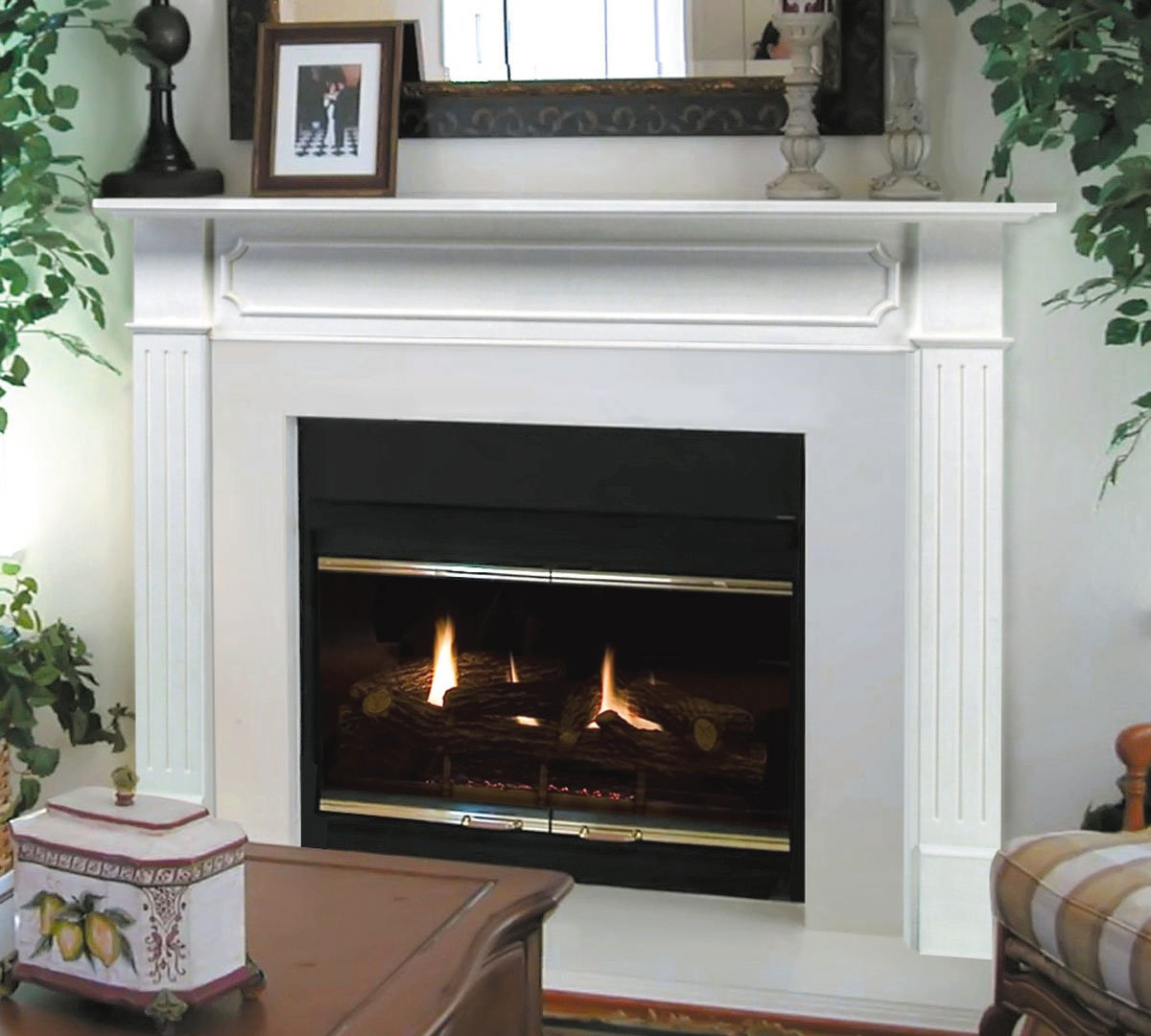 Pearl Mantels 520-48 Berkley Paint Grade Fireplace Mantel, 48-Inch, White, 48 Inch by Pearl Mantels