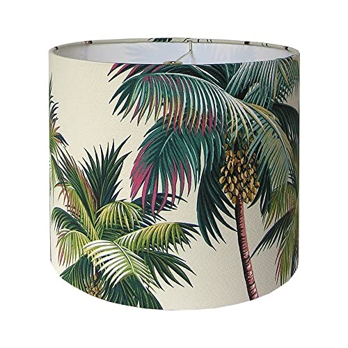 Custom Lamp Shade Waikiki Lamp Shade Palm Trees Lampshade Hawaiian Bark  Crepe Hawaiian Barkcloth Tropical Beach