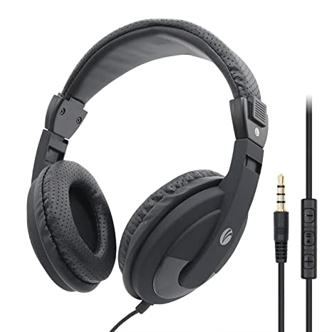VCOM PC Cuffie con Microfono e Controllo Volume aggiornato Leggero  cancellazione del Rumore Cuffie Auricolari Stereo 4bd5cbee44b0